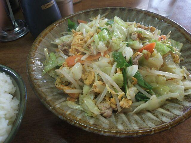 野菜炒めも美味しいお店